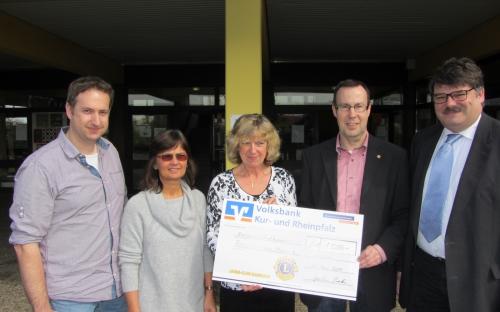 Spendenübergabe Schülerpass Realschule plus 2014