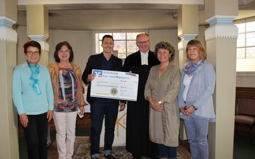 Spendenübergabe prot. Kirchengemeinde 2016
